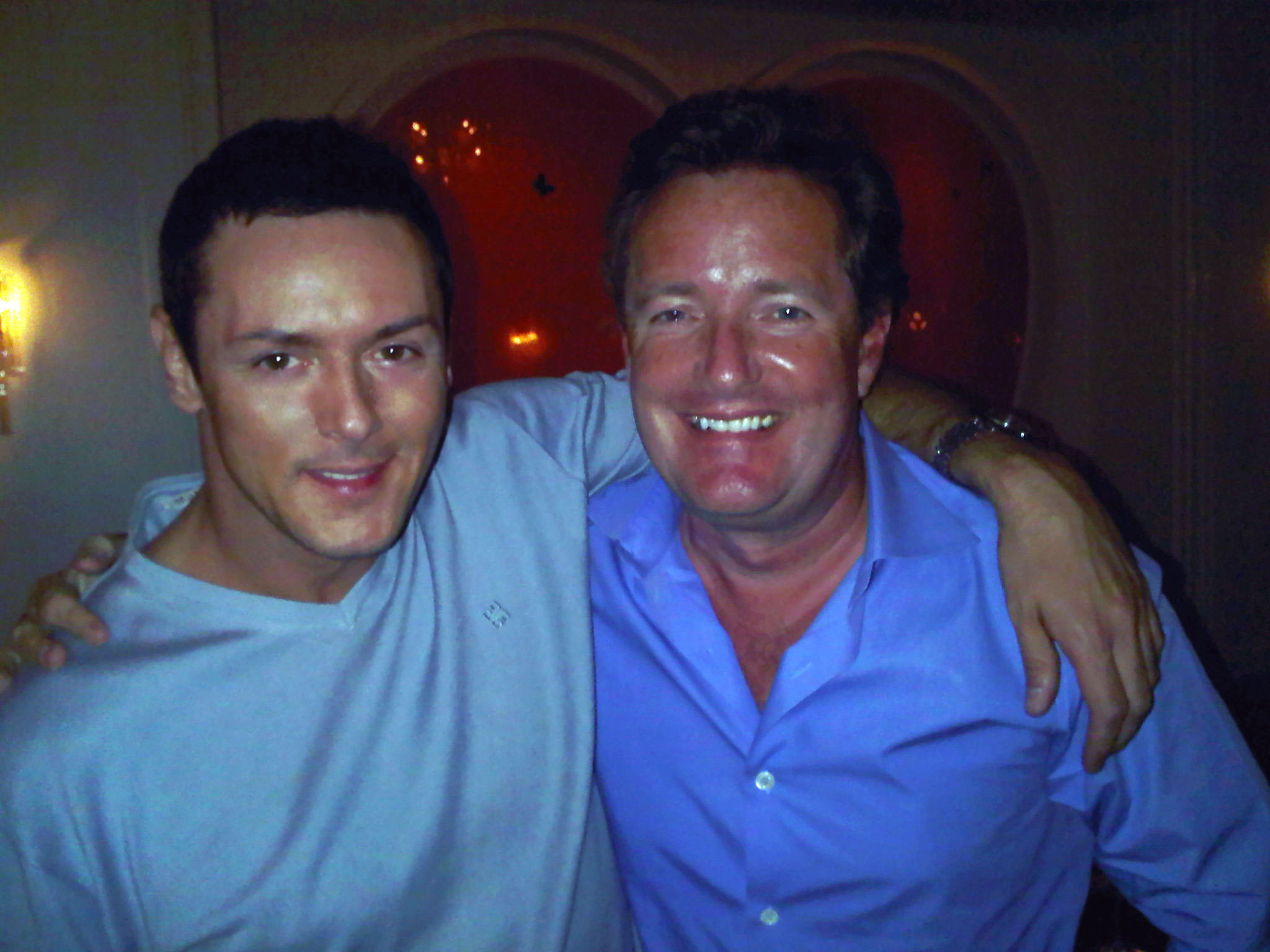 Sean Borg with Piers Morgan