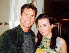 Amy Watts with Tom Cruise