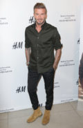 Soccer star David Beckham arrives at the launch of David Beckham's H&M Modern Essentials Collection on September 26, 2016 in H&M at FIGat7th in Los Angeles, California, United States Pictured: David Beckham Ref: SPL1362125 260916 Picture by: Splash News Splash News and Pictures Los Angeles: 310-821-2666 New York: 212-619-2666 London: 870-934-2666 photodesk@splashnews.com